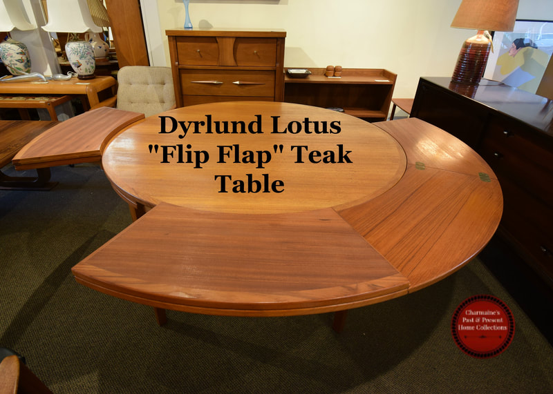 SOLD!! DYRLUND LOTUS TABLE VIDEO