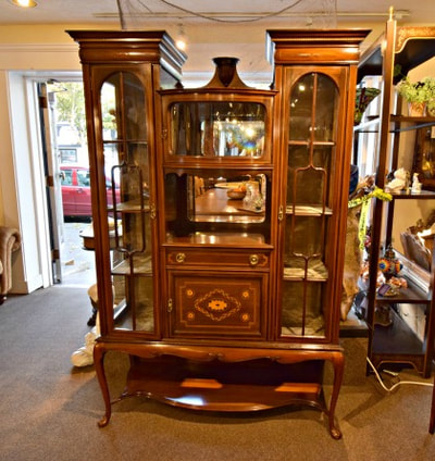 EXCEPTIONAL ANTIQUE INLAID MAHOGANY CABINET...$1249.00