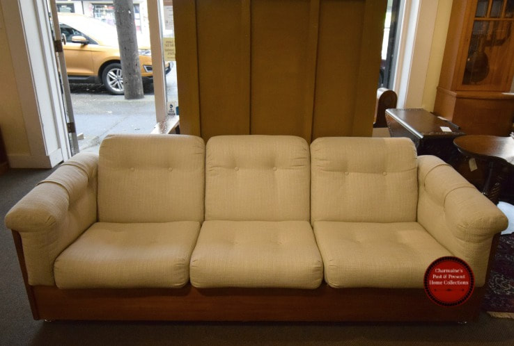 SOLD!! AWESOME MID-CENTURY MODERN TEAK SOFA...$849.00