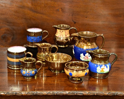 BEAUTIFUL MID 19TH CENTURY COPPER LUSTREWARE... STARTING AT $20.00 each