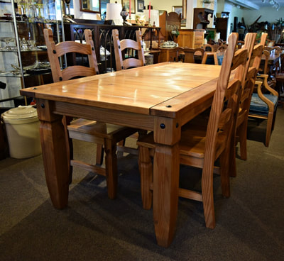 AWESOME MODERN FARMHOUSE SOLID PINE TABLE AND CHAIRS...$999.00