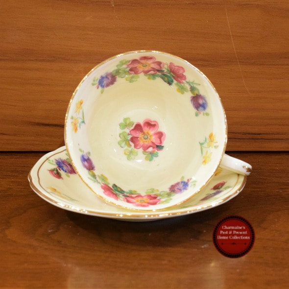 LOVELY VINTAGE PARAGON DOUBLE WARRANT CUP & SAUCER...$20.00