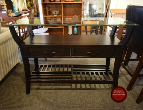 COOL MODERN GLASS TOP SERVER / SIDE CABINET...$279.00