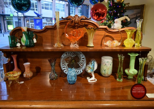GREAT SELECTION OF VINTAGE ART GLASS STARTING AT $20.00