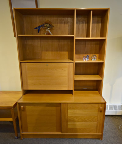 GREAT DANISH MODERN TEAK WALL UNIT...$479.00