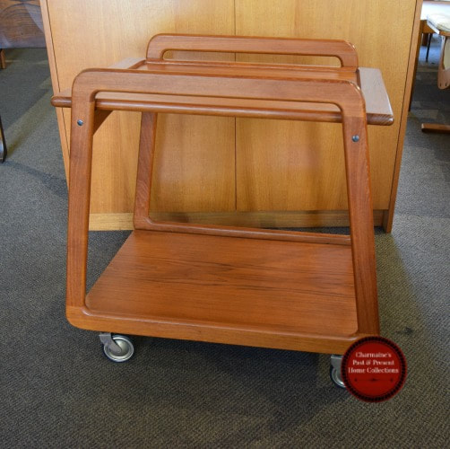 SOLD!! AWESOME DANISH MODERN TRAY TOP TEAK CART BY SIKA MOBLER...$449.00