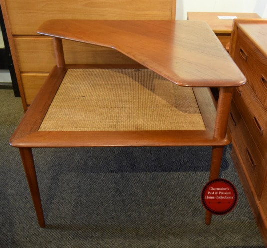 "DANISH MODERN ""MINERVA"" TEAK TABLE BY PETER HVIDT & OLGA MOLGAARD NIELSEN. MADE BY FRANCE & DAVERKOSEN...$649"