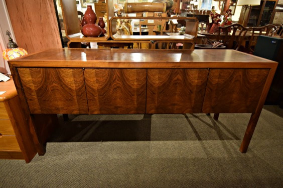 SOLD!! FABULOUS VINTAGE WALNUT CREDENZA...$499.00