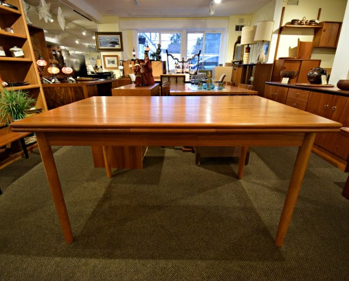 SOLD!! AWESOME MID-CENTURY MODERN TEAK DRAW LEAF TABLE...$649.00