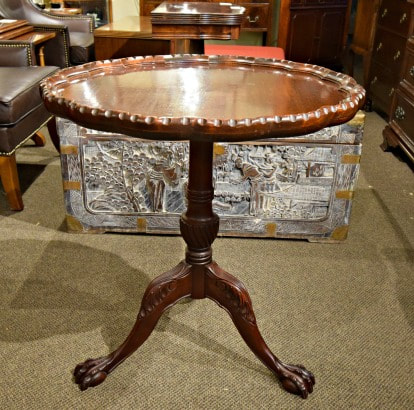 LOVELY HOLLAND HOUSE PAW FOOT MAHOGANY TILT TOP TABLE...$249.00