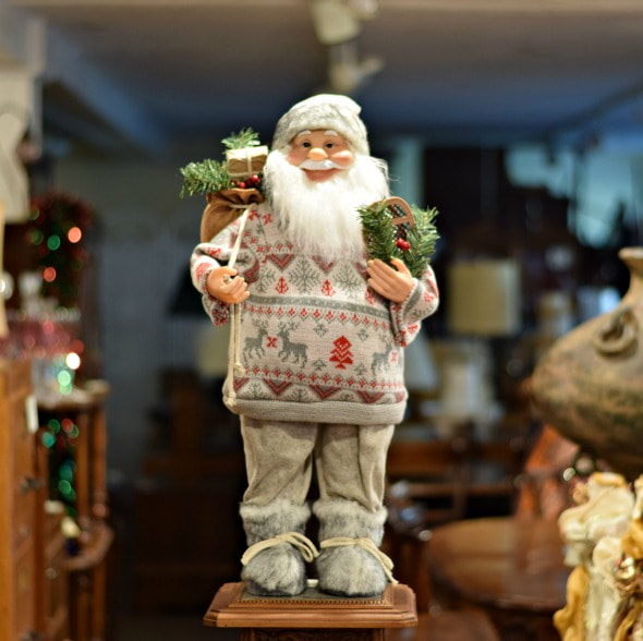 "AWESOME 24"" SANTA IN GREY...$70.00"