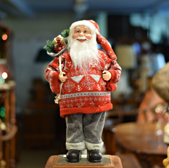 "ADORABLE 18"" SANTA IN RED...$40.00"
