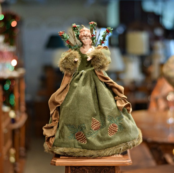 SOLD!! GORGEOUS GREEN FOREST ANGEL...$40.00