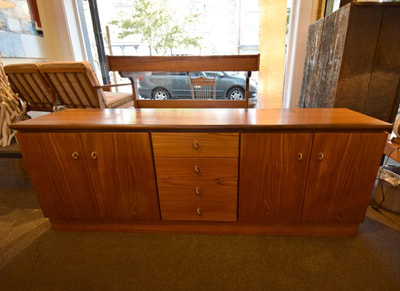 WONDERFUL MID-CENTURY MODERN TEAK SIDEBOARD WITH AFROMOSIA TRIM...$749.00