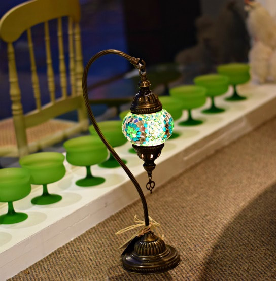 BEAUTIFUL HANDMADE SMALL 'SNOWDROP' TURKISH LAMP...$129.00