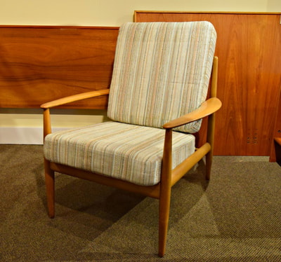 AWESOME DANISH MODERN LOUNGE CHAIR BY GRETE JALK FOR FRANCE & SON...$899.00