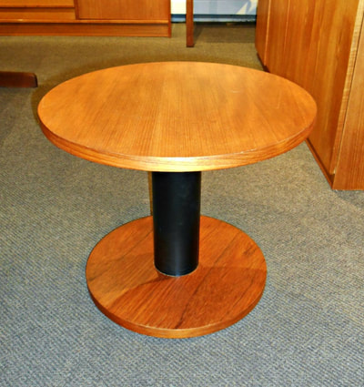 SWEET MID-CENTURY MODERN ROUND TEAK SIDE TABLE...$199.00