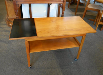 LOVELY MID-CENTURY MODERN TEAK DROP LEAF CART...$299.00