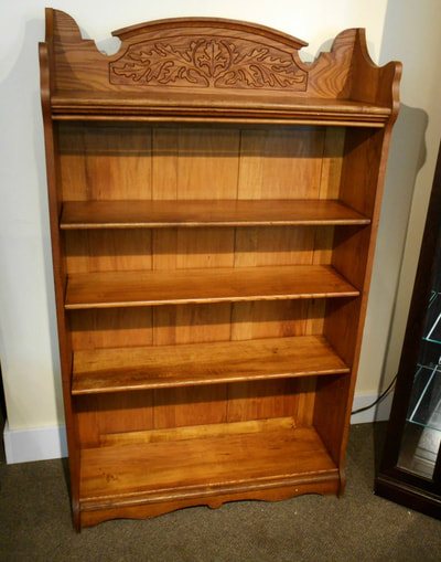 GORGEOUS ANTIQUE CARVED BOOK SHELF...$449.00