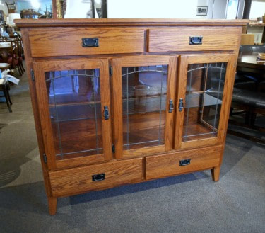 SOLD!! HANDSOME MISSION OAK CABINET...$699.00