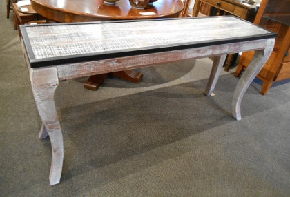 AMAZING MODERN DISTRESSED HALL OR SOFA TABLE...$449.00