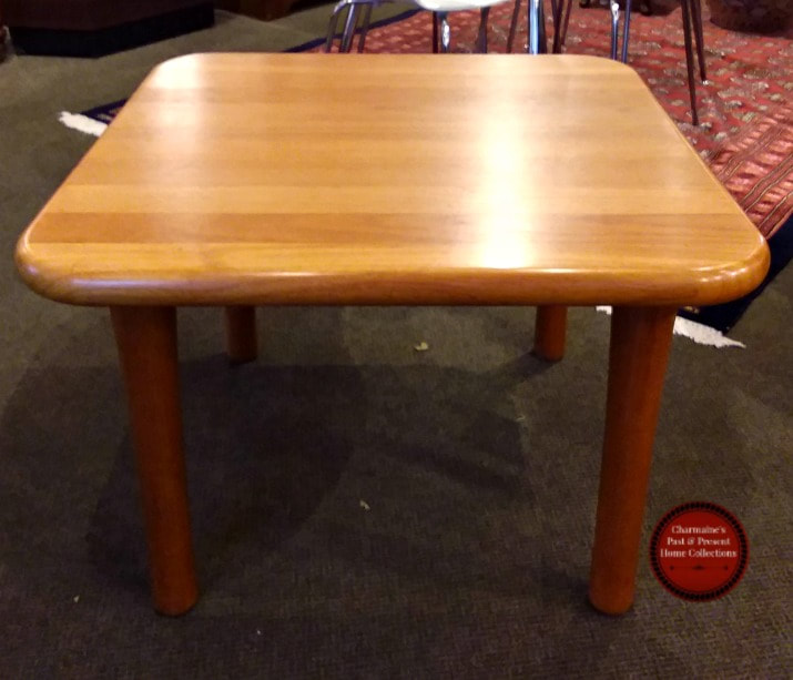 GORGEOUS MID-CENTURY MODERN SOLID TEAK END TABLE...$299.00